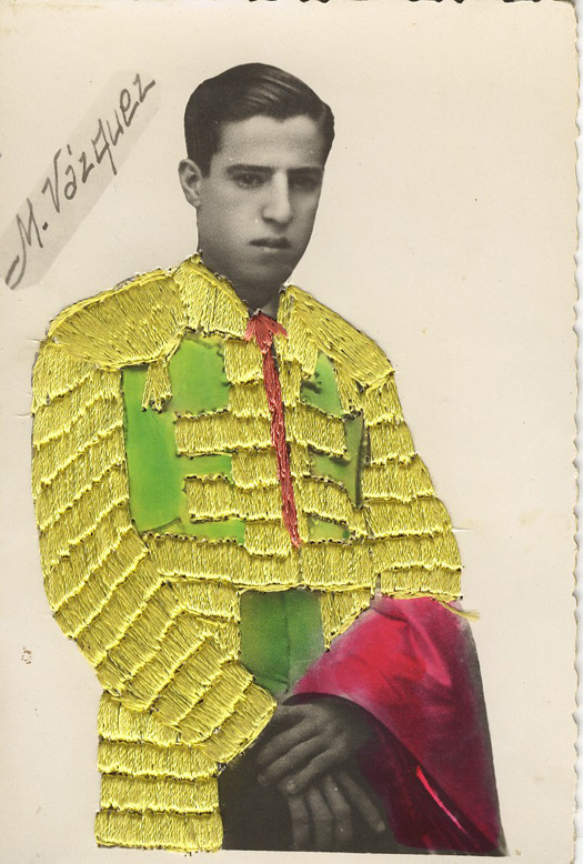 embroidered photographs